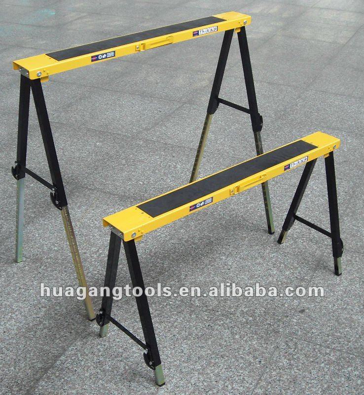 Folding Metal Adjustable Saw Horse View Adjustable Saw
