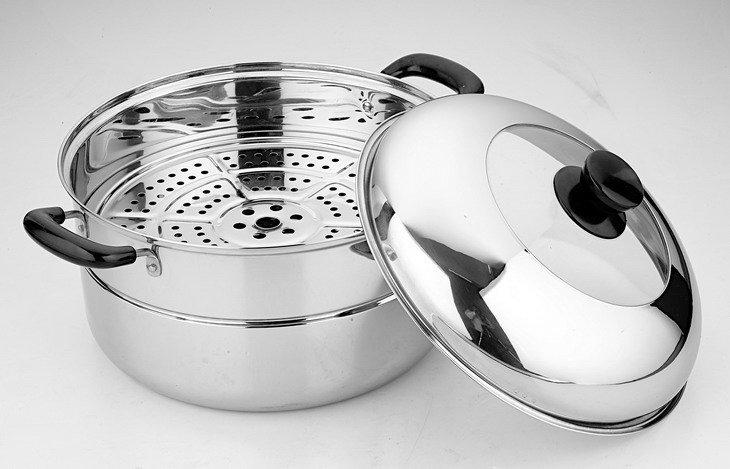 Etonnant Stainless Steel One Layer Kitchen Steamer View