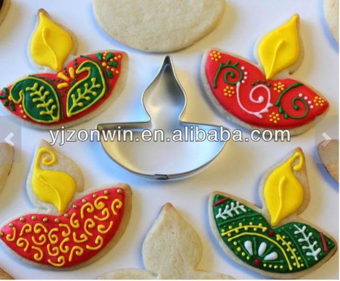 Diwali diya lamp metal cookie cutter mold design buy for Art and craft for diwali decoration