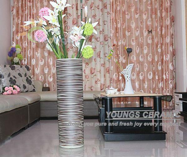 Hecho a mano chino porcelana moderna grandes jarrones para for Jarrones decorativos grandes