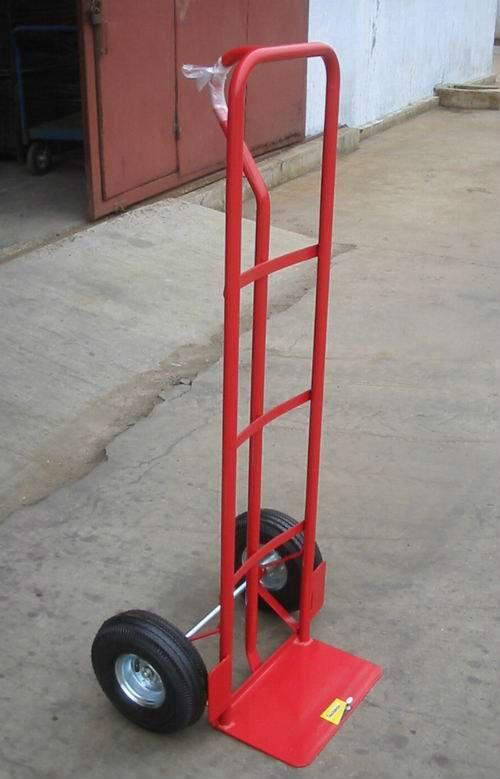 Steel pneumatic wheel trolley moving dolly hand