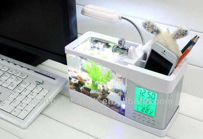Aquarium usb desktop fish tank buy desktop fish tank usb for Usb fish tank