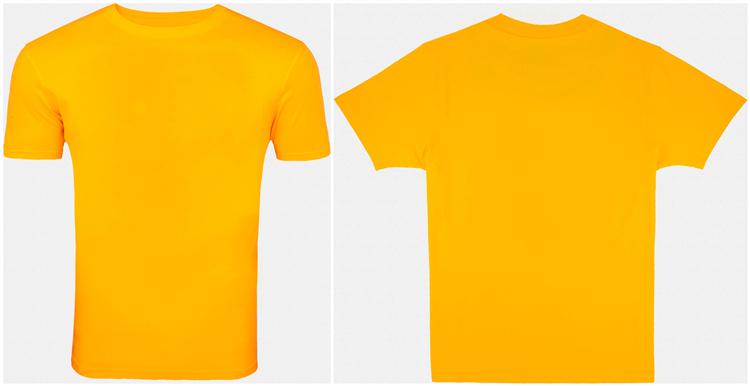 Round Neck Yellow Plain T-shirt Wholesale - Buy Yellow Plain T ...