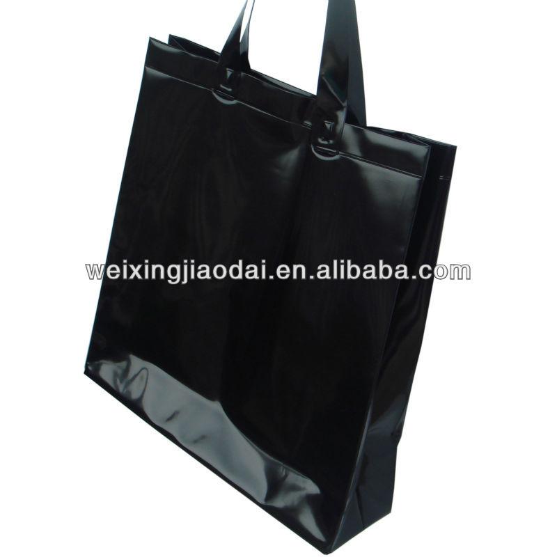 Factory Black Plastic Shopping Bag Beach Bag Tote Towl Bag Handle ...