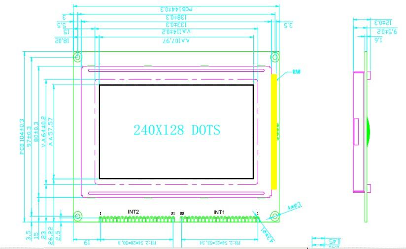 240x128 Lcd 240x128 Graphic Lcd Display Module