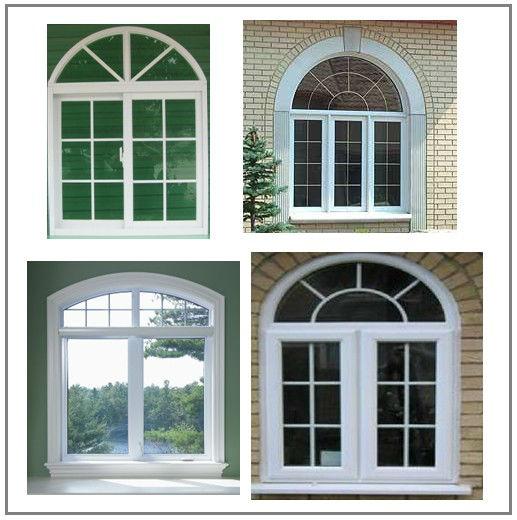 Fixed Frame Windows : Aluminum half moon windows with fixed window on top buy
