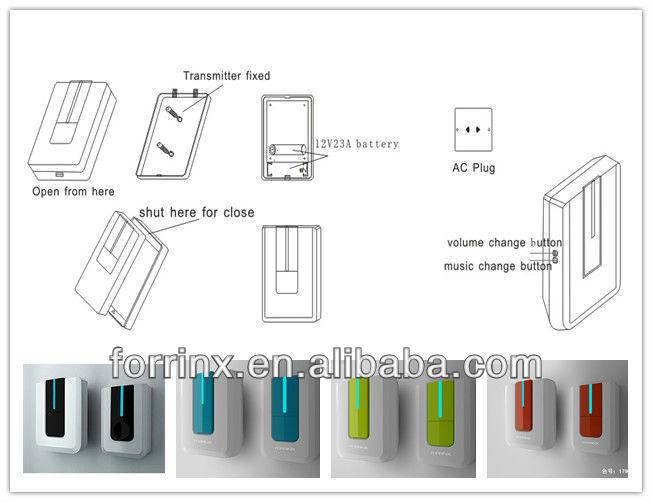 Citofono Alto Fine Design Digitale Senza Fili Campanello