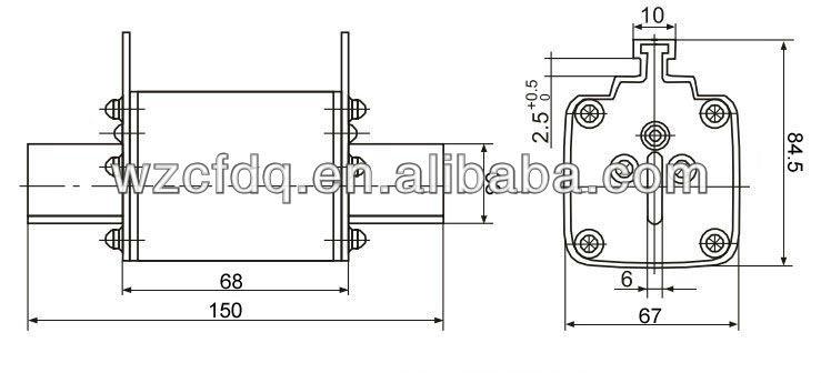 nt3 dc low voltage ceramic white fuse link
