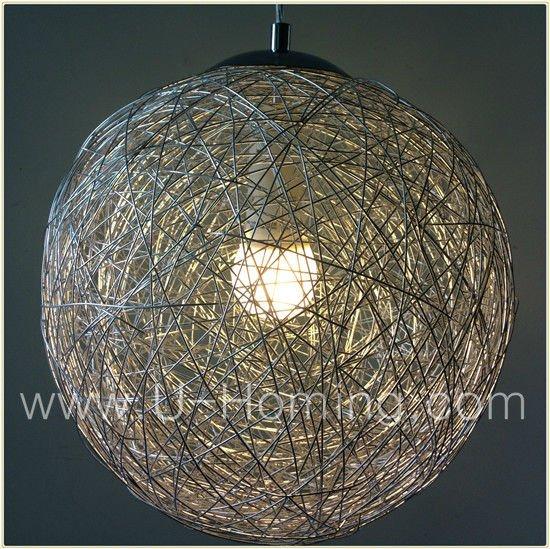 Mesh Wire-ball Pendant Lamp Fabric Pendant Ceiling Light