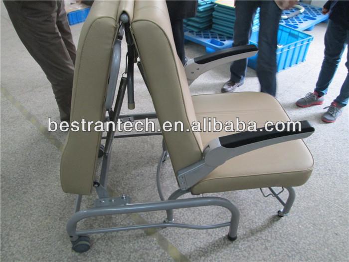 btcn005 hospital attendant cheap plastic sleeping folding chairs
