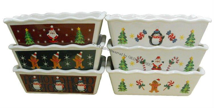 Promotional Christmas Ceramic Mini Baker Bread Pan Buy