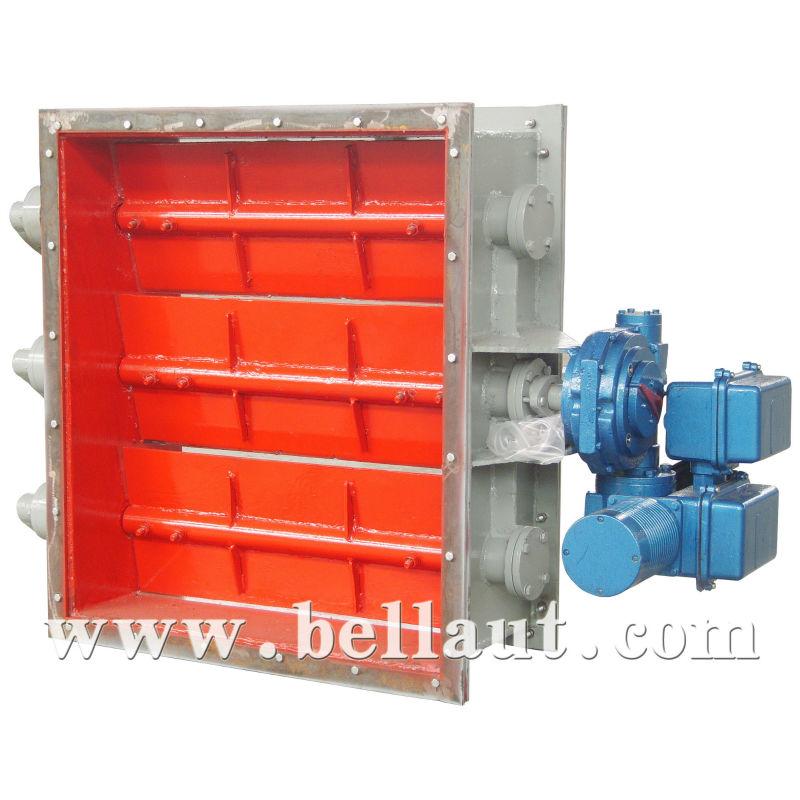 Electric damper valve fire smoke damper valve motorized for Motorized smoke fire damper