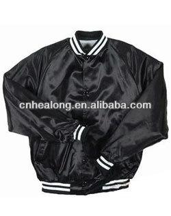 Plain Dark Blue Wholesale Satin Baseball Jackets Top Quality - Buy ...