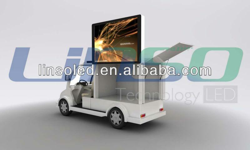 Mobile cran led ext rieur vid o publicit v hicule moto for Ecran publicitaire exterieur