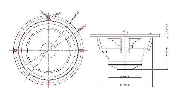 5 u0026 39  u0026 39  hifi full range speaker driver subwoofer 8ohm 40w rms
