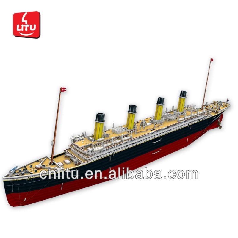 D Puzzle Titanic Diy Ship Model Educational Toys Litu D - Educational cruise ships