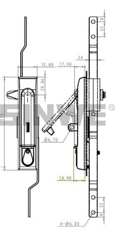 Black Zinc Electrical Door Panel Garage Door Lock Buy