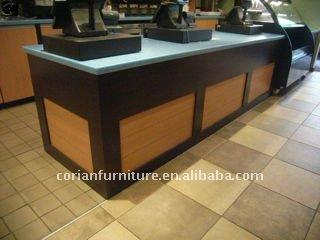 Glacier White New Design Modern Retail Shop Display Counter View Shop Cash Counter Design Oem
