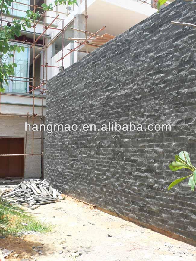 Negro Basalto Azulejos De Revestimiento De Pared Exterior Buy