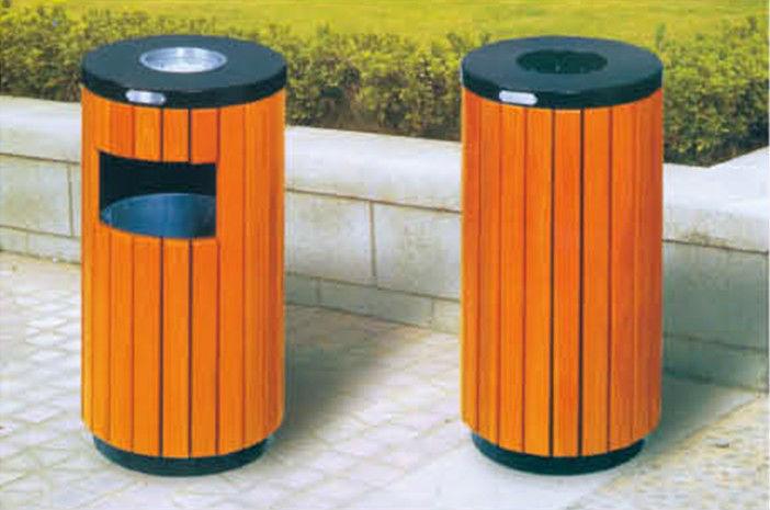 Garden Trash Can Garbage Bin Round