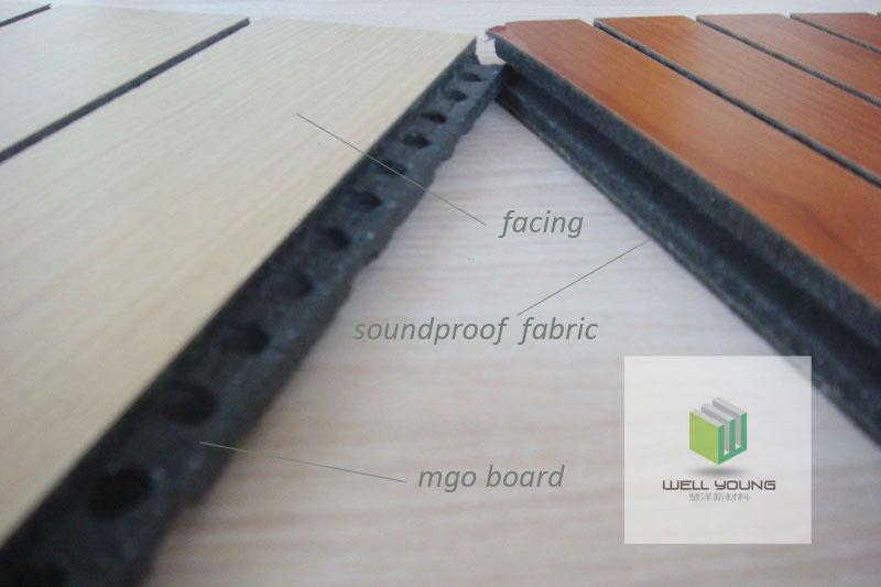 En bois acoustique panneaux mdf rev tement mural panneau - Revetement mural acoustique absorption ...