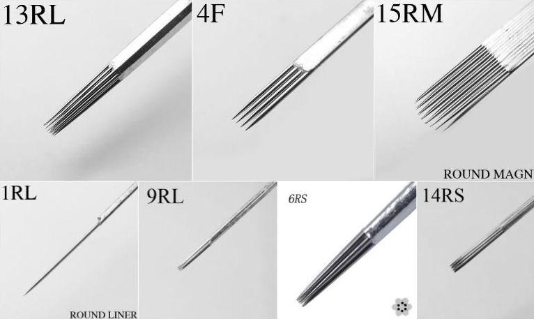 Professional round liner needles 316 sterilized tattoo for Shading needle tattoo