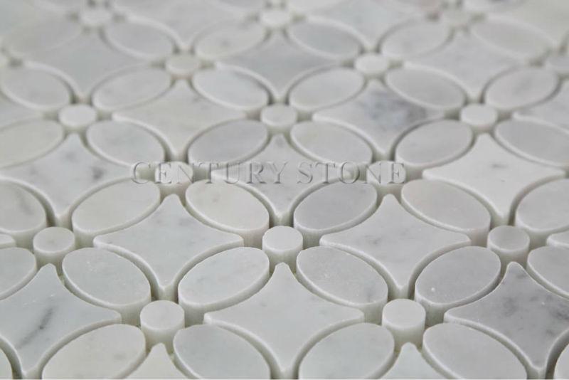 Oriental White Marble Floor Flower Tiles Design Buy