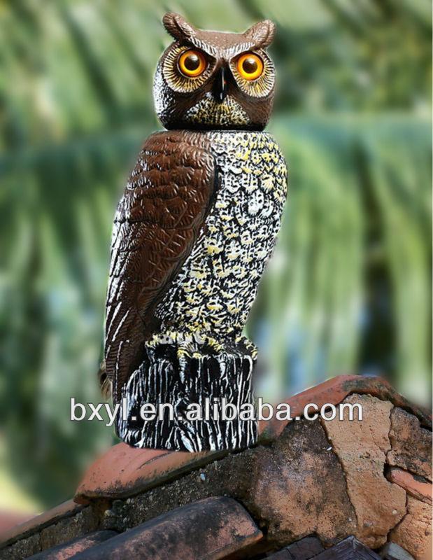 Garden Solar Sensor Owl Guard Bird Scare Scarer