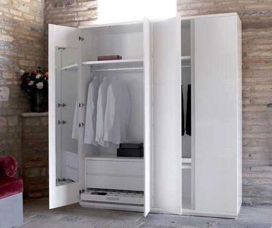 White designer almirah wardrobe furniture buy designer almirah wardrobe modern wardrobe design - Modern almirah designs ...