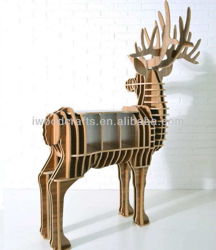 Animal Shape Wood Deer Coffee Table Iw Wd001 Buy Deer Table Bookcase Animal Coffee Table Deer