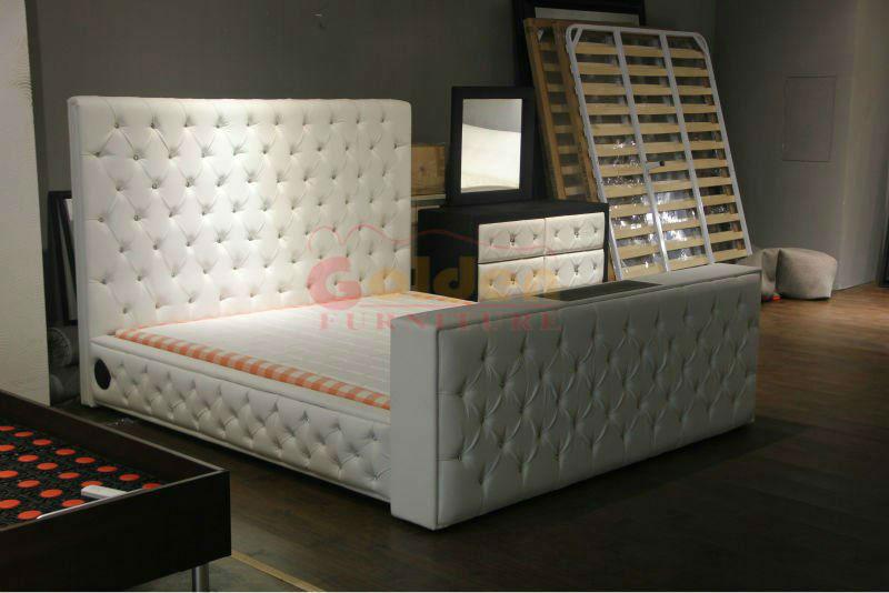 Bg922 # Muebles Dubai Moderno Cama Televisión Ascensor - Buy Cama ...