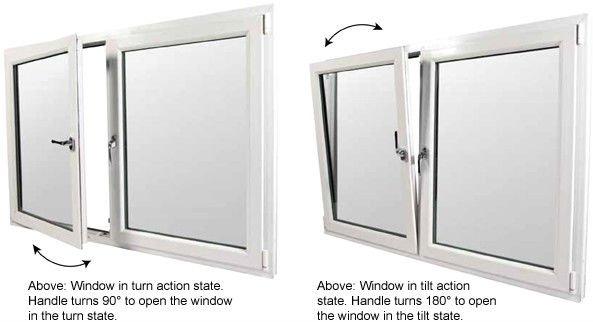 Tilt Open Window : Pvc two way opening window buy