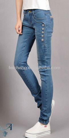 Sexy Ladies Tops Latest Design Tight Slim Denim Jean,Girls Dresses ...