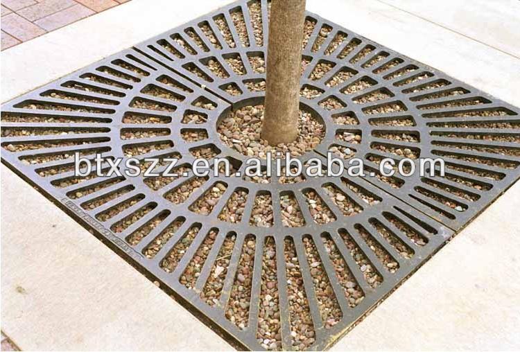 Decorative Cast Iron Grates : Customized china factory decorative cast iron trench drain