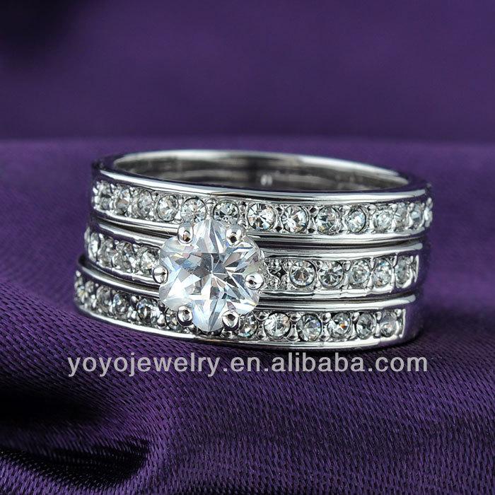 Special Silver Plated Boy Fashion Sterns Wedding Rings
