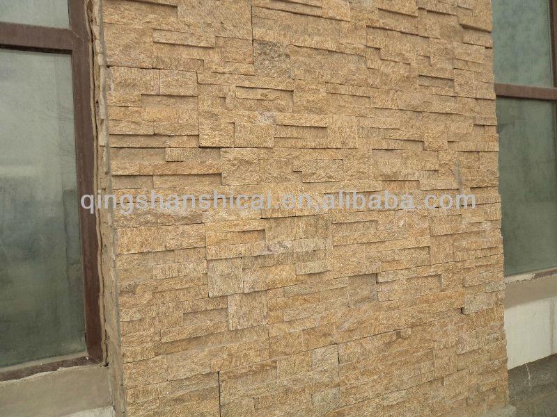 Yellow Gneiss Wall Stone Design Wall Cladding Decorative Stone - Buy ...