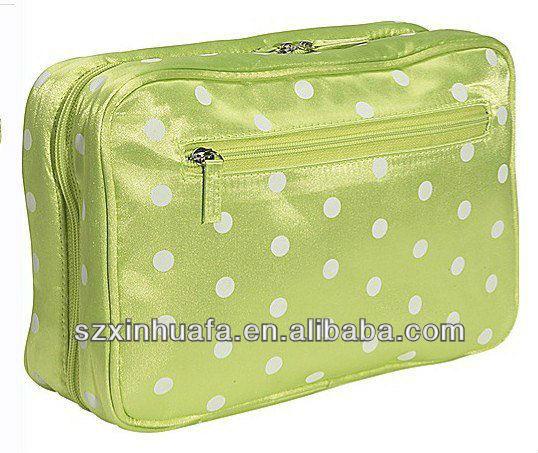 (XHF-COSMETIC-423) satin cosmetc bag travel make up bag travel toiletry bag