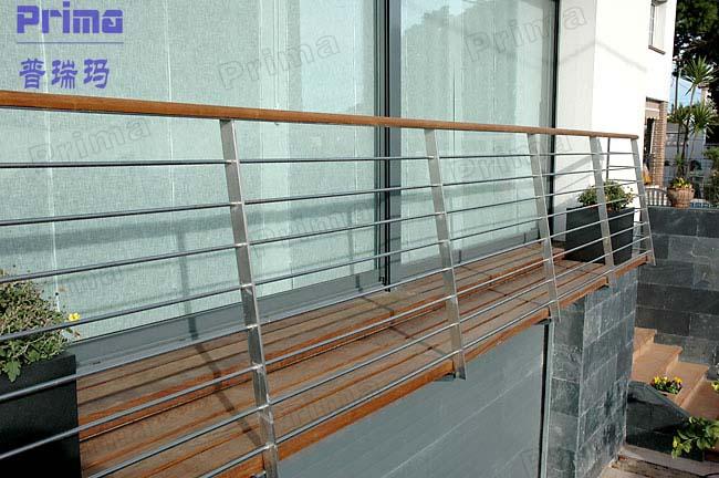 stainless steel railing balustrade balcony column fence extenders pr