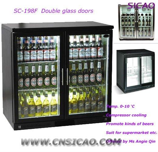 Budweiser Double Glass Door 198l Bar Fridge Buy Bar