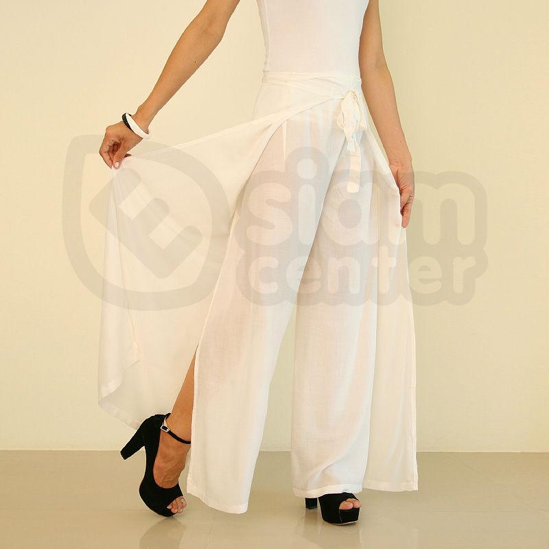 Womens Thai Silk Wrap Pants Sarong Palazzo Harem Yoga