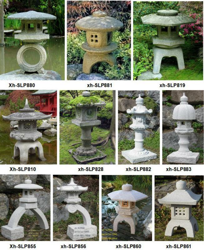 Natural Granite Hand Carved Stone Lantern Japan Pagoda Garden Statue (24  Years Factory)