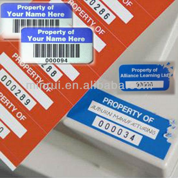 Inventaris Asset Label Laptop Asset Label Stiker Aset