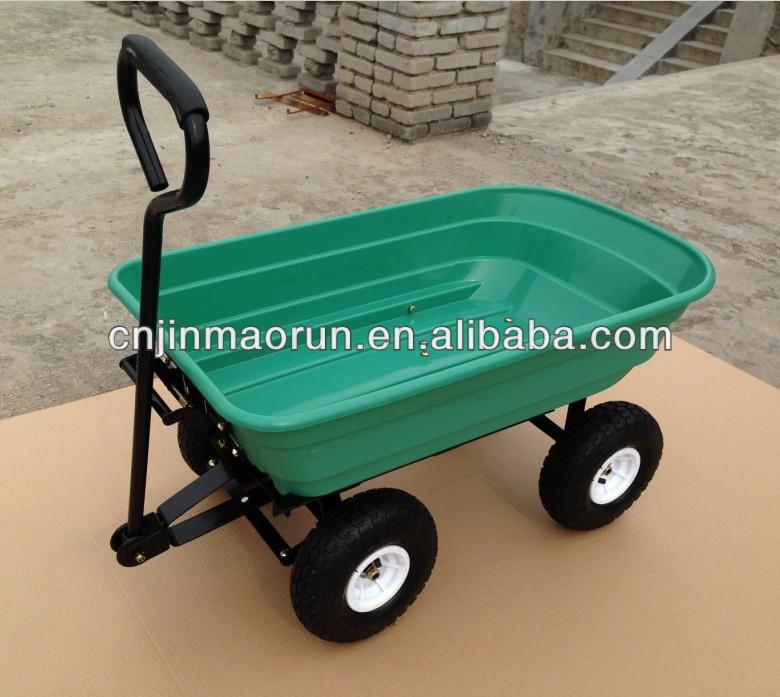 Four Wheeler Pulling Wagon : Wheel pull wagon garden cart truck sack trolley tc
