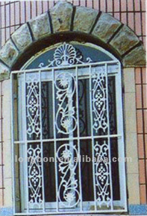 Artistic Cast Iron Window Grill Design