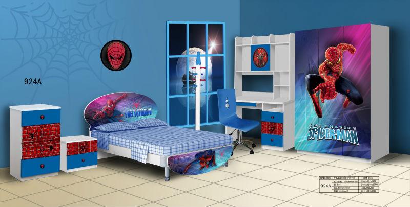 Children Bedroom Furniture Spiderman Cartoons Designs For Kids ...