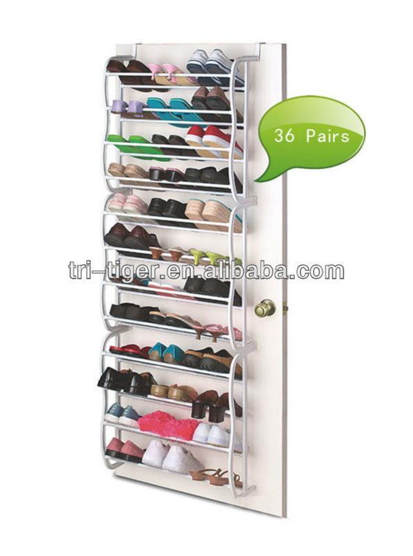 36 pair metal and plastic shoe rack heated buy shoe rack - Organizador de zapatos ikea ...
