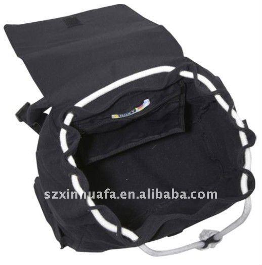 (XHF-BACKPACK-108) drawstring closure cotton canvas backpack