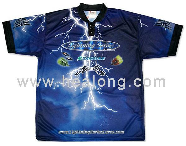 Sublimated fishing wear waterproof fishing clothing buy for 4xl fishing shirts