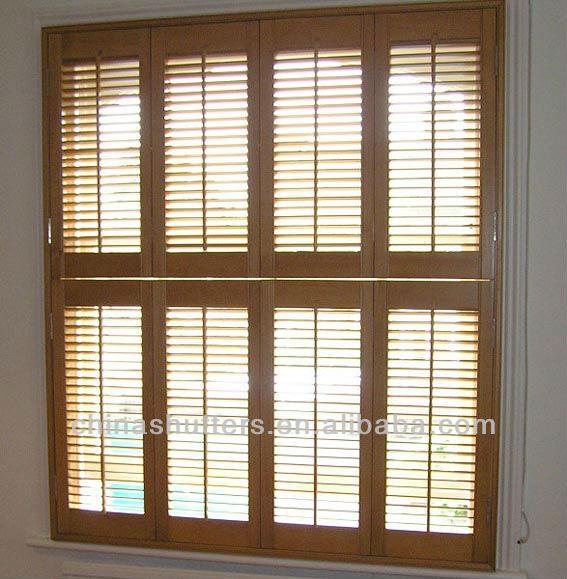 Bathroom Window Louvers living room/badroom/door/bathroom wood half height window shutters