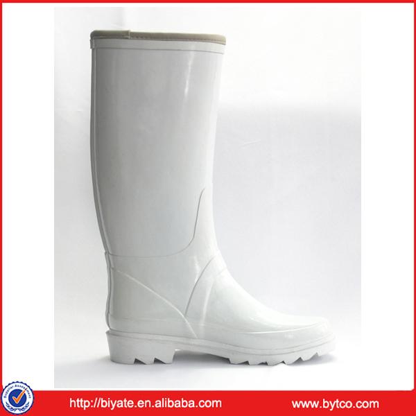 High Quality Women Rubber White Rain Boots - Buy White Rain Boots ...